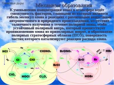 Механизм образования К уменьшению концентрации озона в атмосфере ведёт совоку...