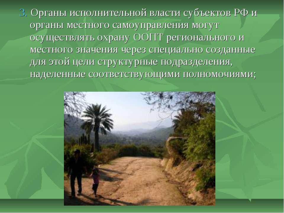 3. Органы исполнительной власти субъектов РФ и органы местного самоуправления...