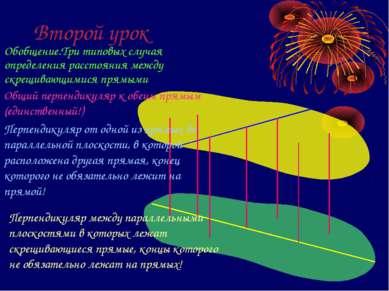 Второй урок Обобщение.Три типовых случая определения расстояния между скрещив...