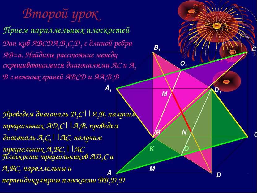 Второй урок Прием параллельных плоскостей Дан куб ABCDA1B1C1D1 с длиной ребра...