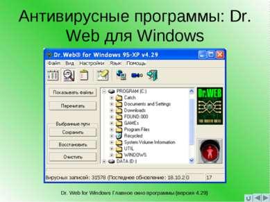 Антивирусные программы: Dr. Web для Windows