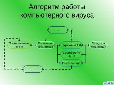 Алгоритм работы компьютерного вируса