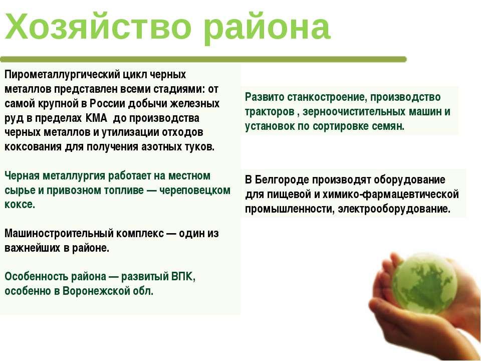 На район приходится всего 6,3% сельскохозяйственных угодий России. В то же вр...