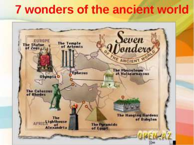 7 wonders of the ancient world