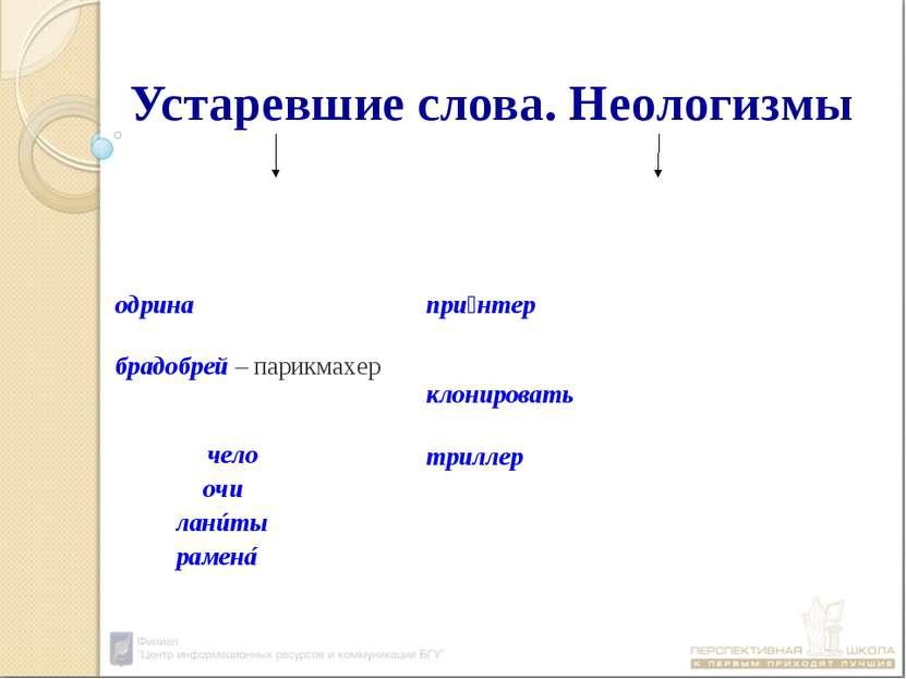 Устаревшие слова. Неологизмы слова, которые вышли из активного употребления с...