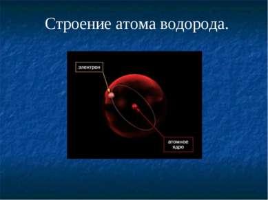 Строение атома водорода.