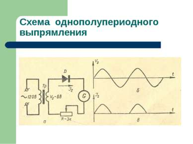 Схема однополупериодного выпрямления
