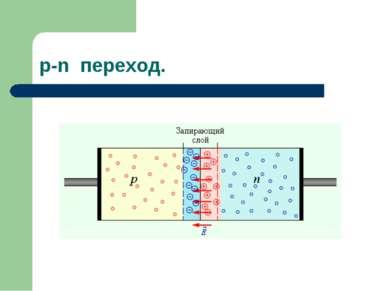 p-n переход.