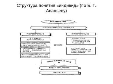 Структура понятия «индивид» (по Б. Г. Ананьеву)