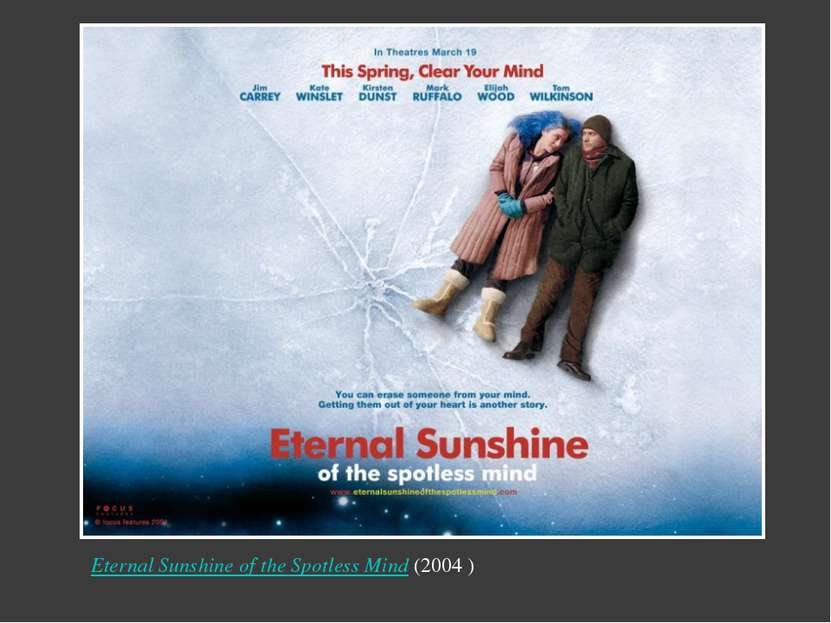 Eternal Sunshine of the Spotless Mind (2004 ) Надпись