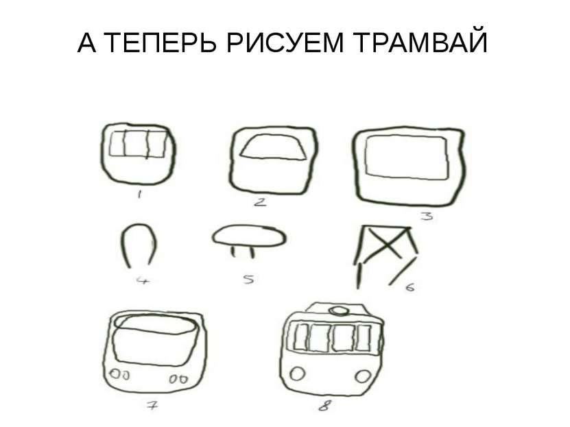 А ТЕПЕРЬ РИСУЕМ ТРАМВАЙ