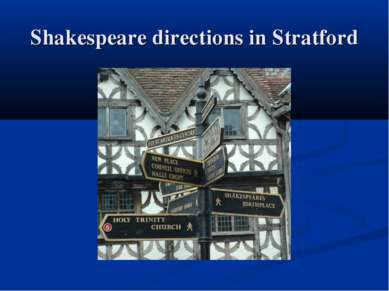 Shakespeare directions in Stratford