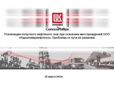 * Утилизация попутного нефтяного газа при освоении месторождений ООО «Нарьянм...