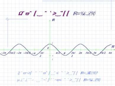 График функции y=cos(x) Сравни с графиком функции y=sin(x)! Переход к свойств...