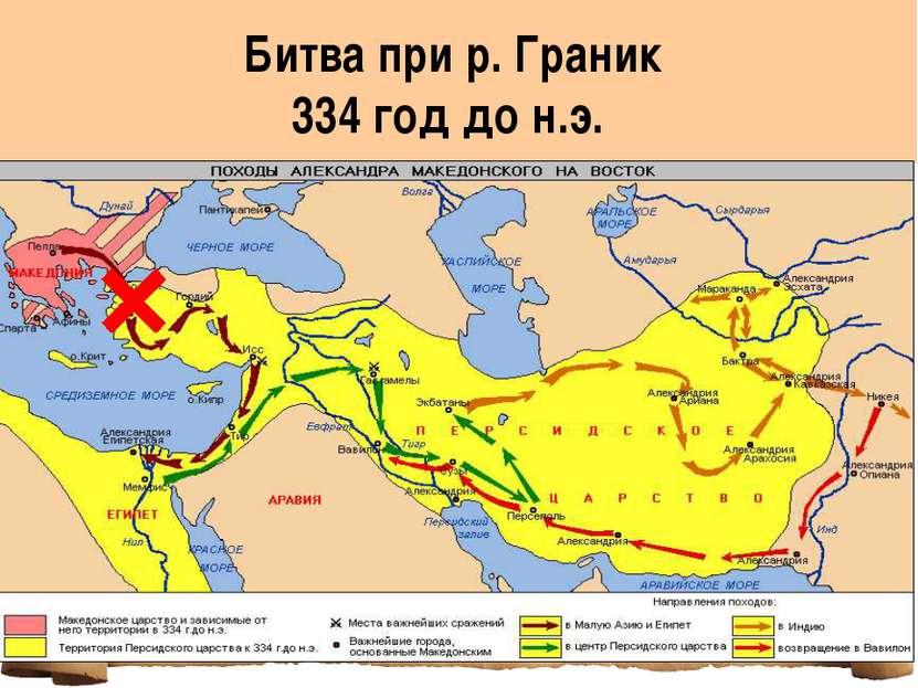 Битва при р. Граник 334 год до н.э.