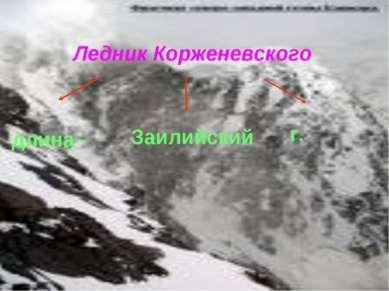 Ледник Корженевского длина - Заилийский г.