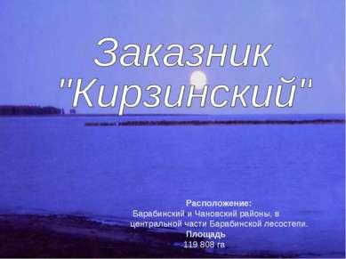 Расположение: Барабинский и Чановский районы, в центральной части Барабинской...