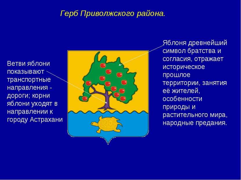 Герб Приволжского района. Яблоня древнейший символ братства и согласия, отраж...