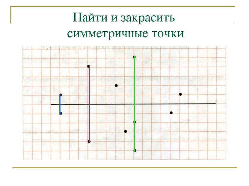 Найти и закрасить симметричные точки