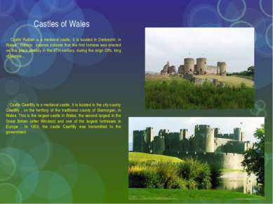 Castles of Wales Castle Rudlan is a medieval castle, it is located in Denbesh...