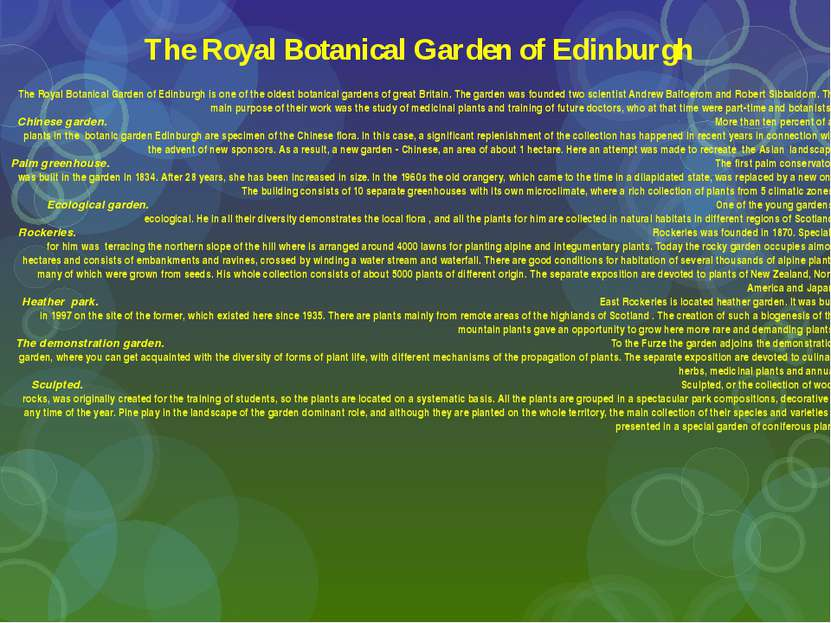 The Royal Botanical Garden of Edinburgh The Royal Botanical Garden of Edinbur...