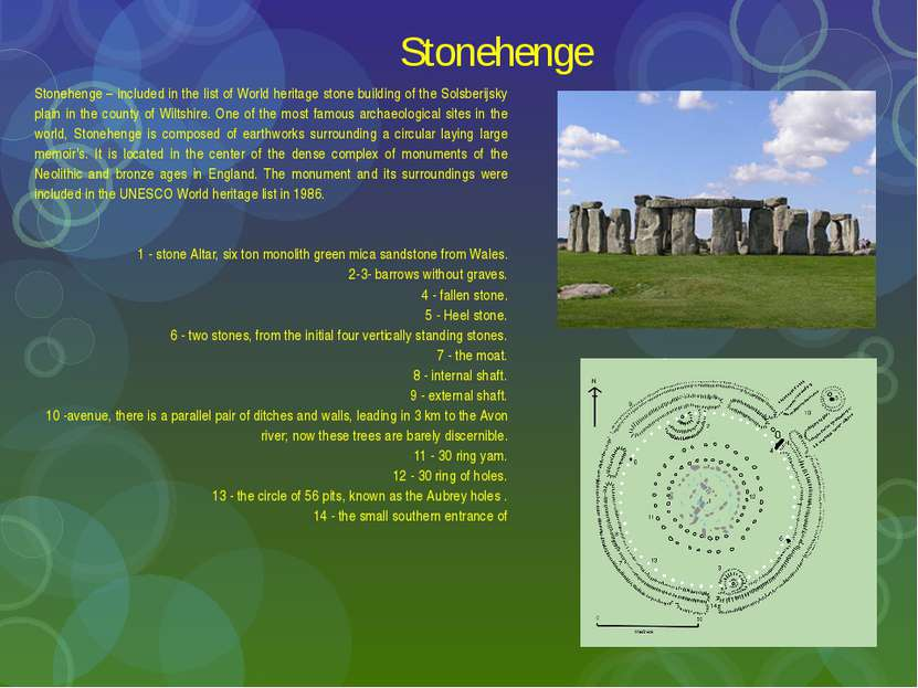 Stonehenge Stonehenge – included in the list of World heritage stone building...