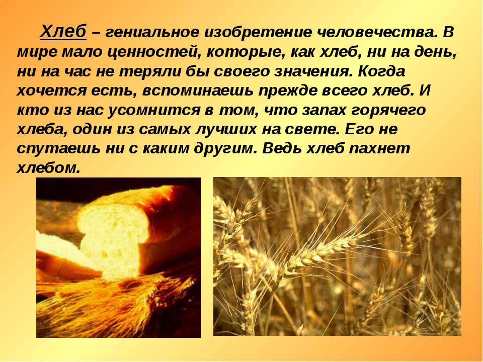Хлеб – гениальное изобретение человечества. В мире мало ценностей, которые, к...