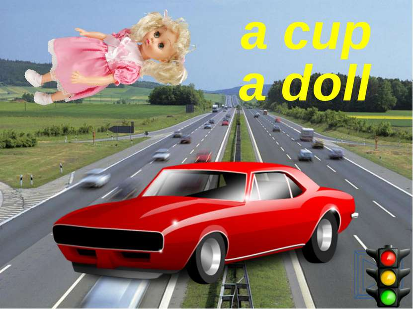 a doll a cup