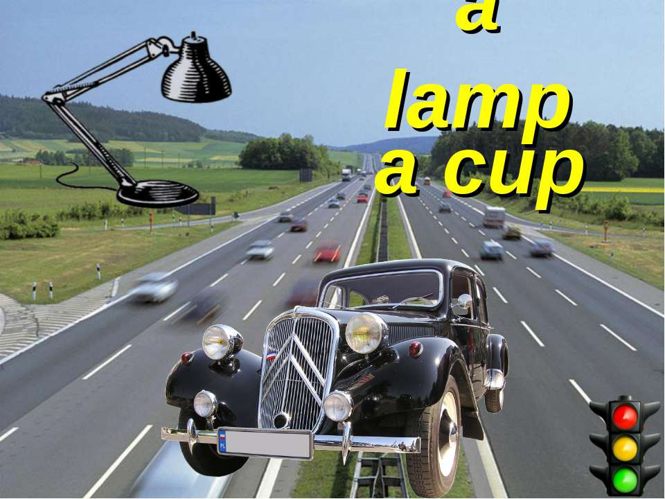 a lamp a cup