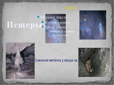 Снежная метёлка у входа на первом этаже Гномик Пещеры