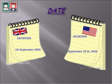 18/o9/2009 18 September 2009 09/18/2009 September 18 th, 2009