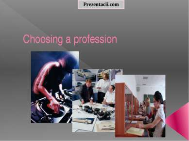 Choosing a profession