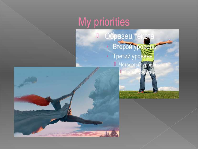 My priorities