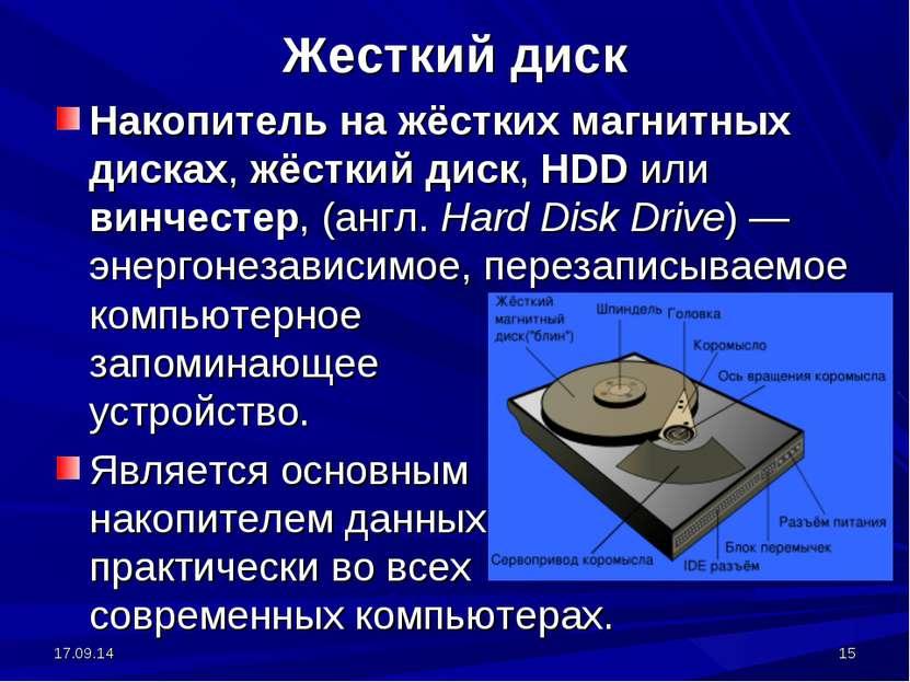 * * Жесткий диск Накопитель на жёстких магнитных дисках, жёсткий диск, HDD ил...
