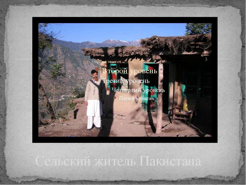 Сельский житель Пакистана