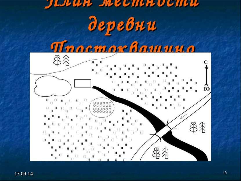 * * План местности деревни Простоквашино