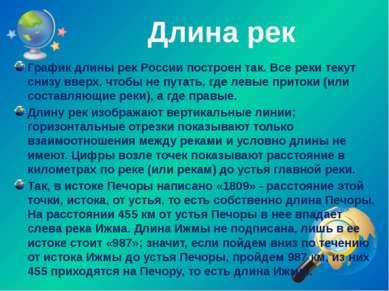 Длина рек График длины рек России построен так. Все реки текут снизу вверх, ч...