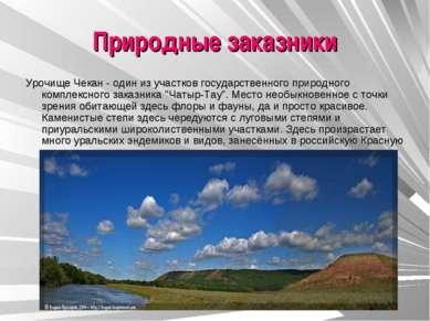 Природные заказники Урочище Чекан - один из участков государственного природн...