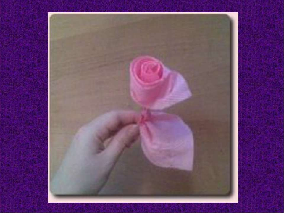 Цветы с салфеток видео