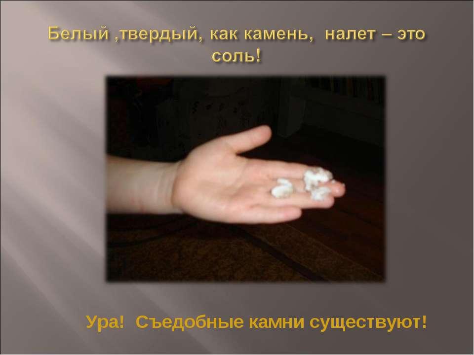 Ура! Съедобные камни существуют!