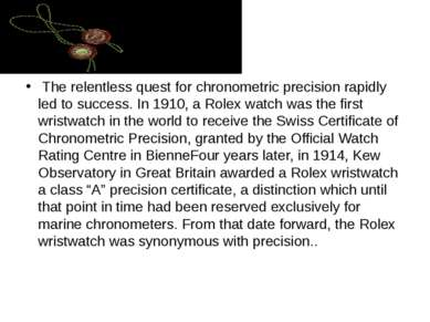 The relentless quest for chronometric precision rapidly led to success. In 19...