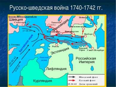 Русско-шведская война 1740-1742 гг.