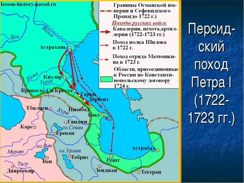 Персид- ский поход Петра I (1722- 1723 гг.)