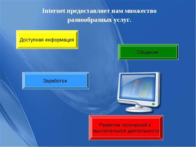 Internet предоставляет нам множество разнообразных услуг. Доступная информаци...
