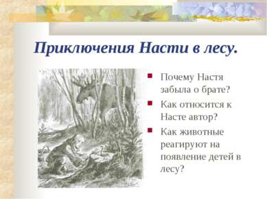 Приключения Насти в лесу. Почему Настя забыла о брате? Как относится к Насте ...