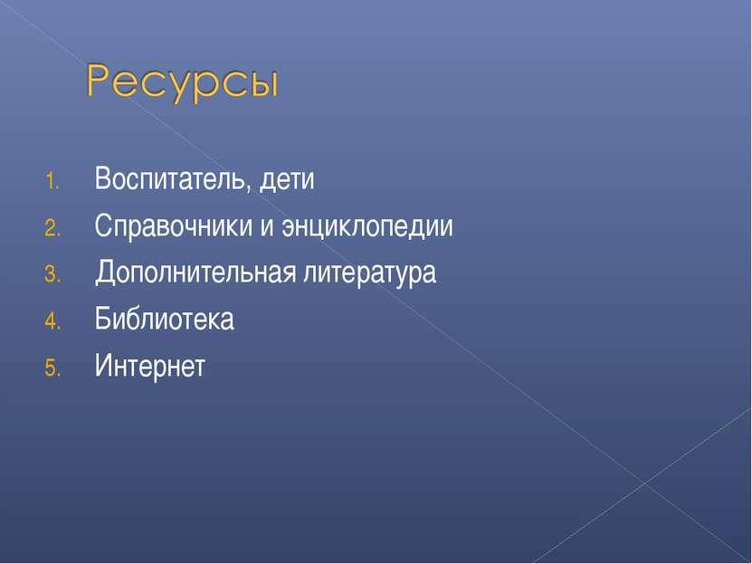 Воспитатель, дети Справочники и энциклопедии Дополнительная литература Библио...