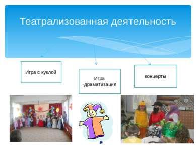 Театрализованная деятельность Игра с куклой Игра -драматизация концерты