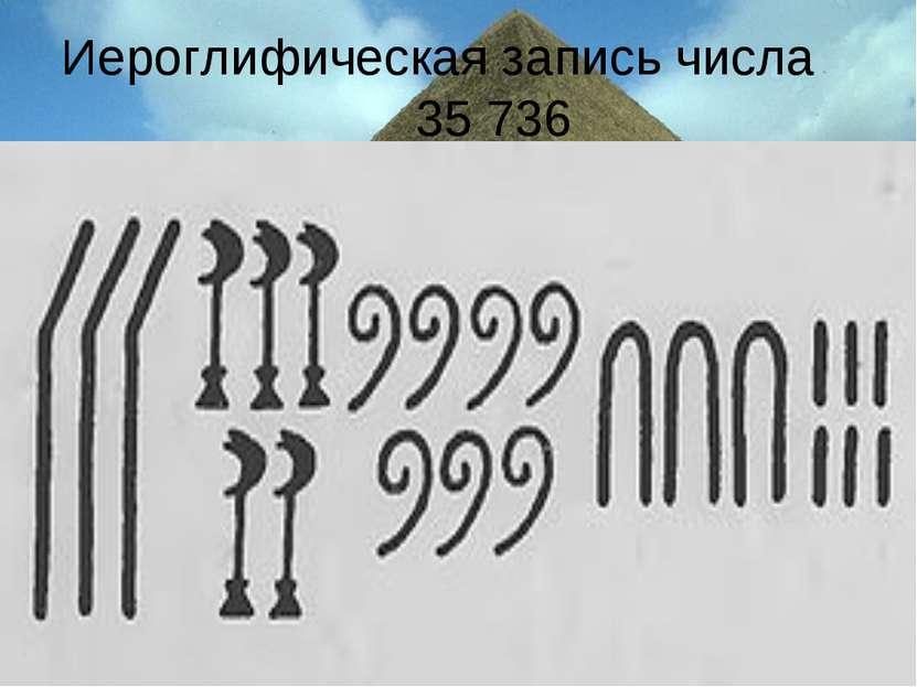 Иероглифическая запись числа 35 736