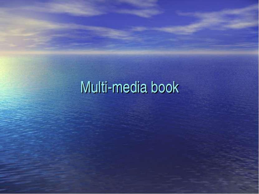 Multi-media book