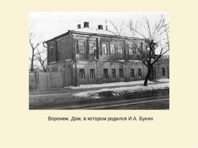 Воронеж. Дом, в котором родился И.А. Бунин